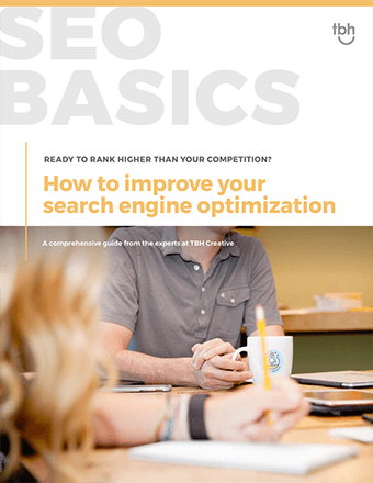 cover of TBH Creative's guide to improving SEO rankings