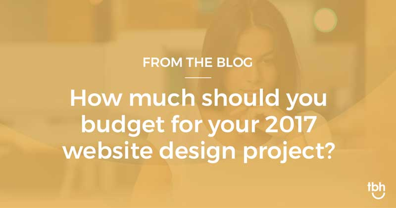 What to expect when budgeting for a website