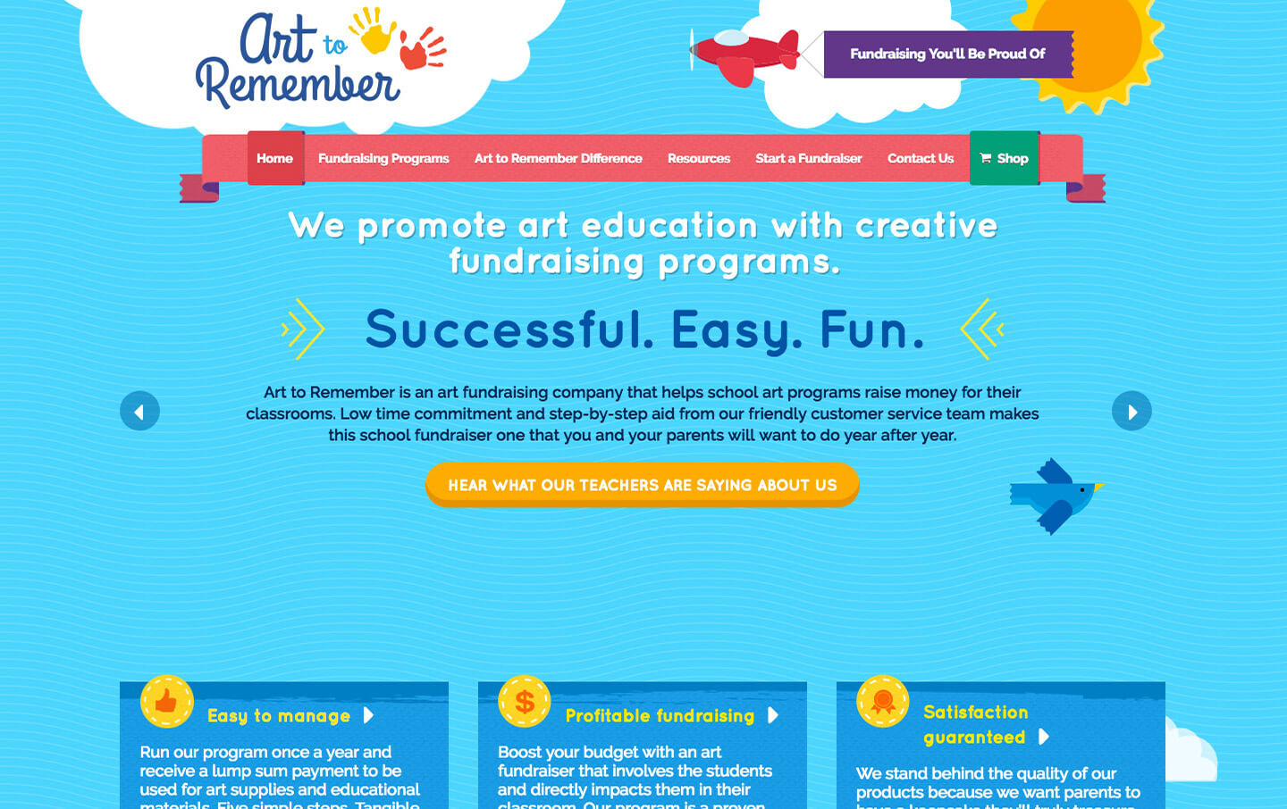 Art to Remember website preview