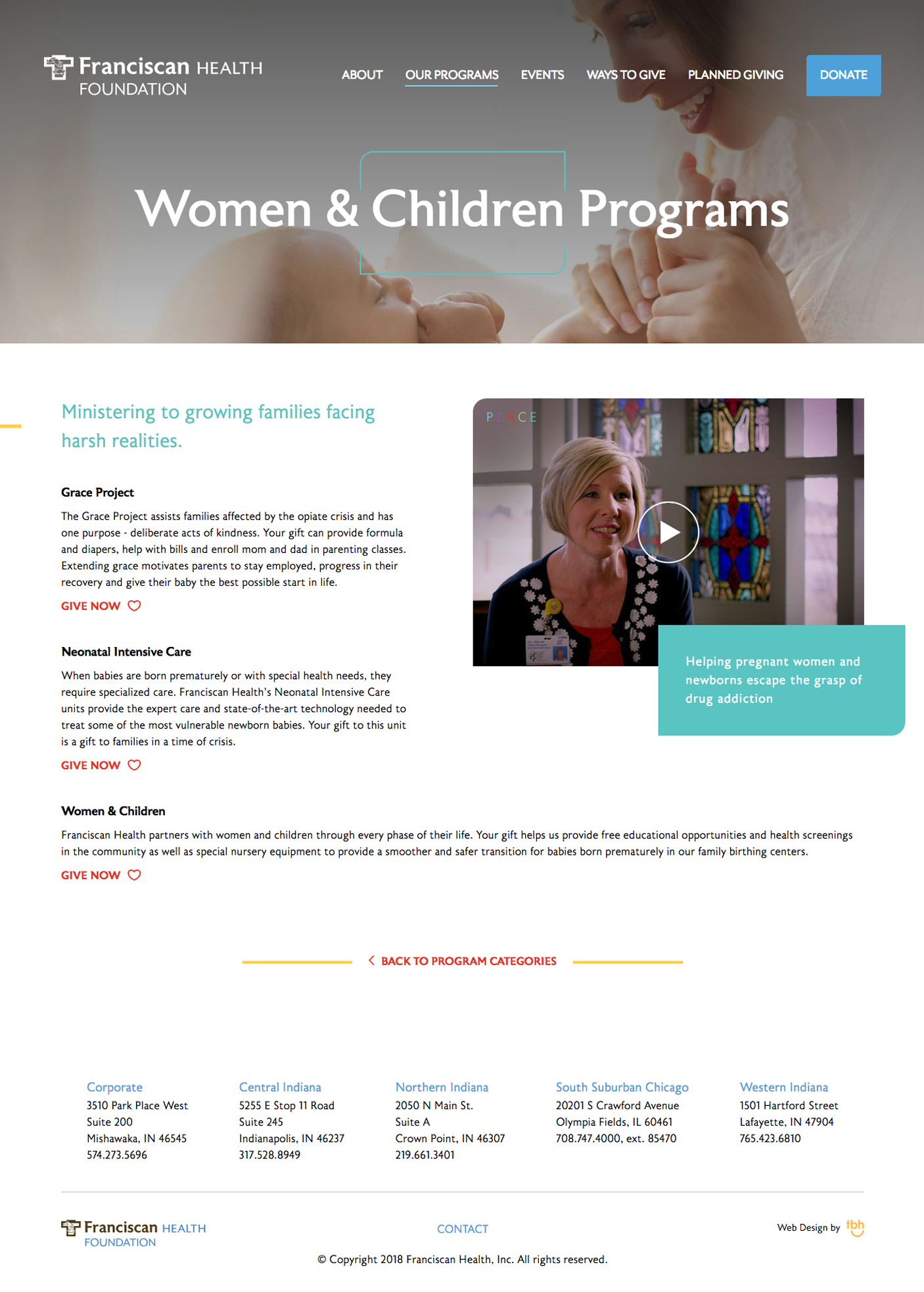 Franciscan Health Foundation Program Detail web page