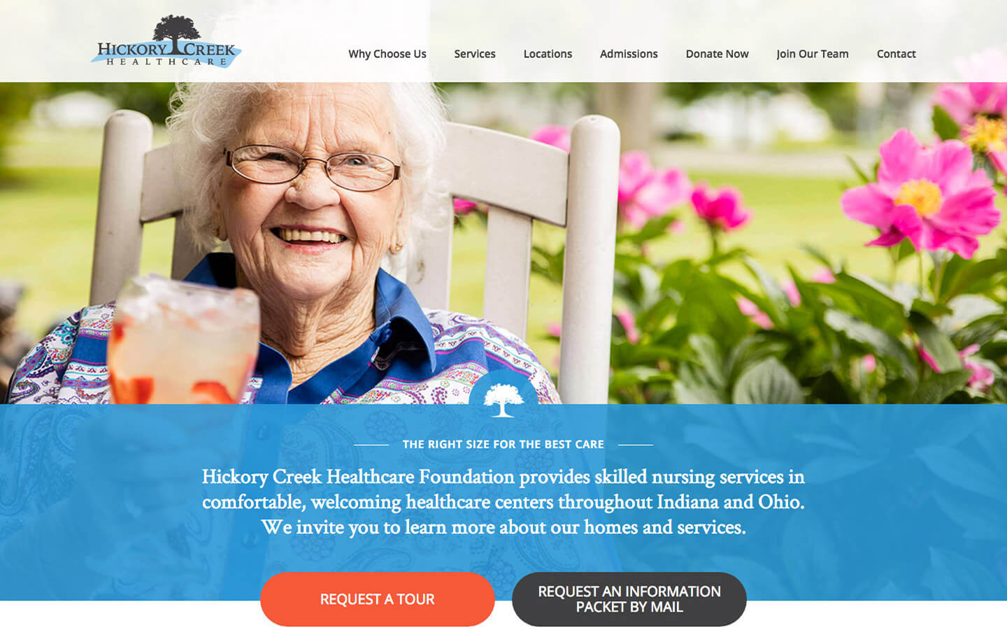 Hickory Creek Healthcare website preview