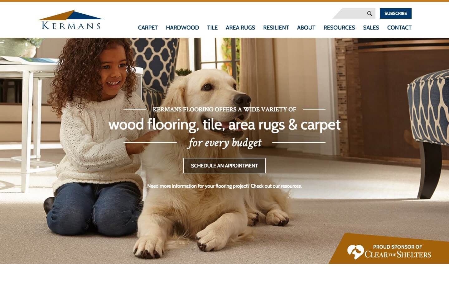 Kermans Flooring website preview