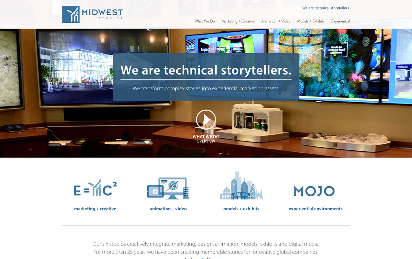 Midwest Studios website preview