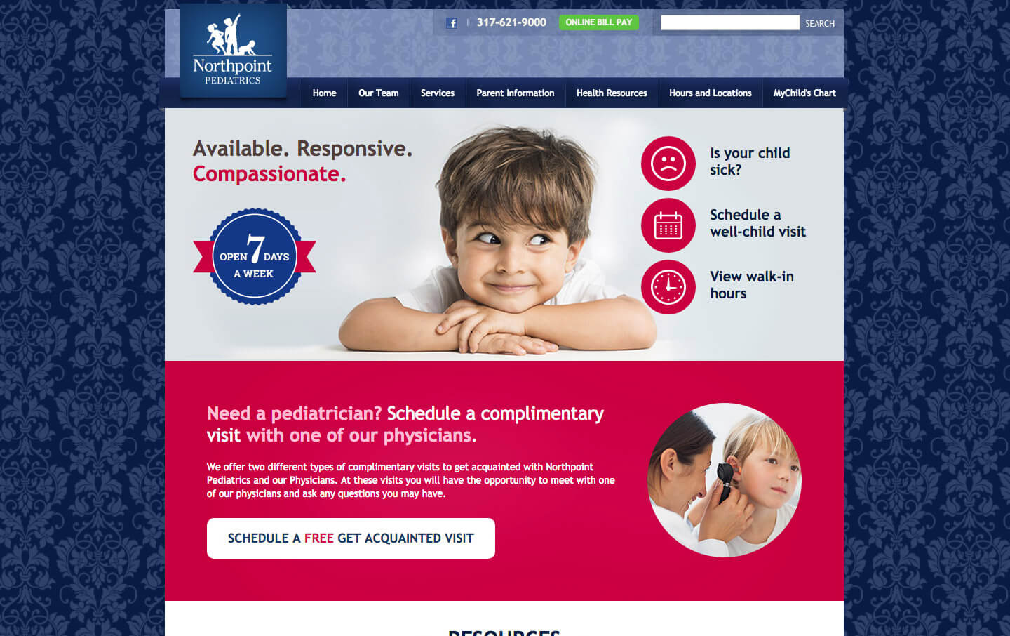Northpoint Pediatrics website preview