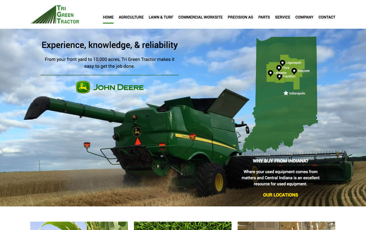 Tri Green Tractor website preview