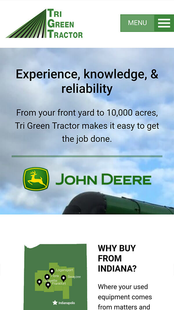 Tri Green Tractor mobile preview