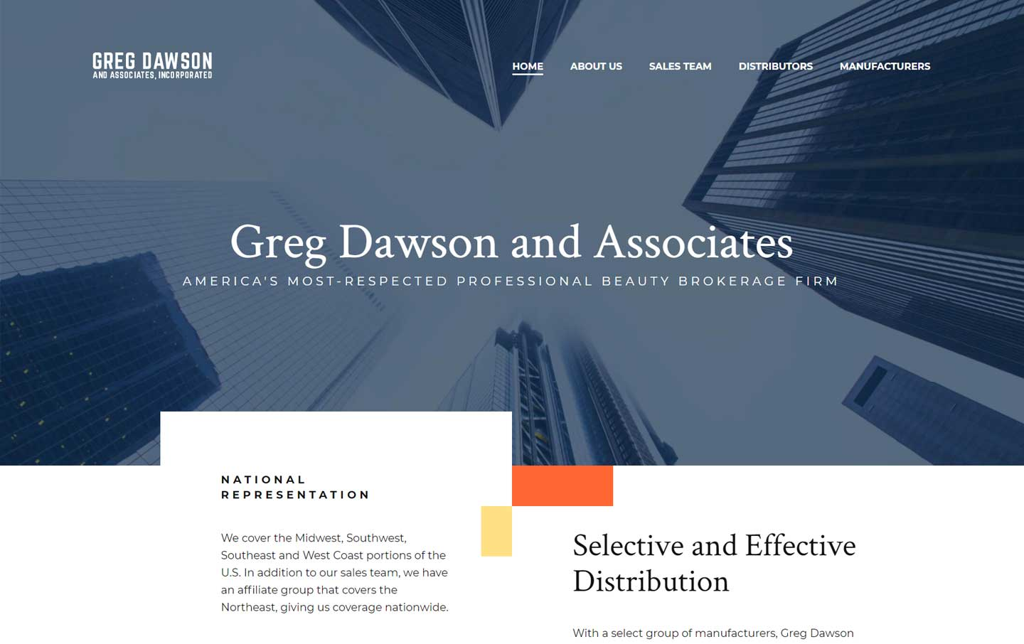 Greg Dawson desktop website homepage preview