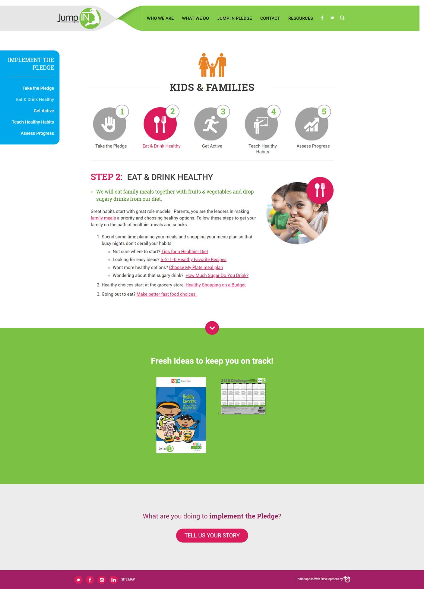 Health Resources web page