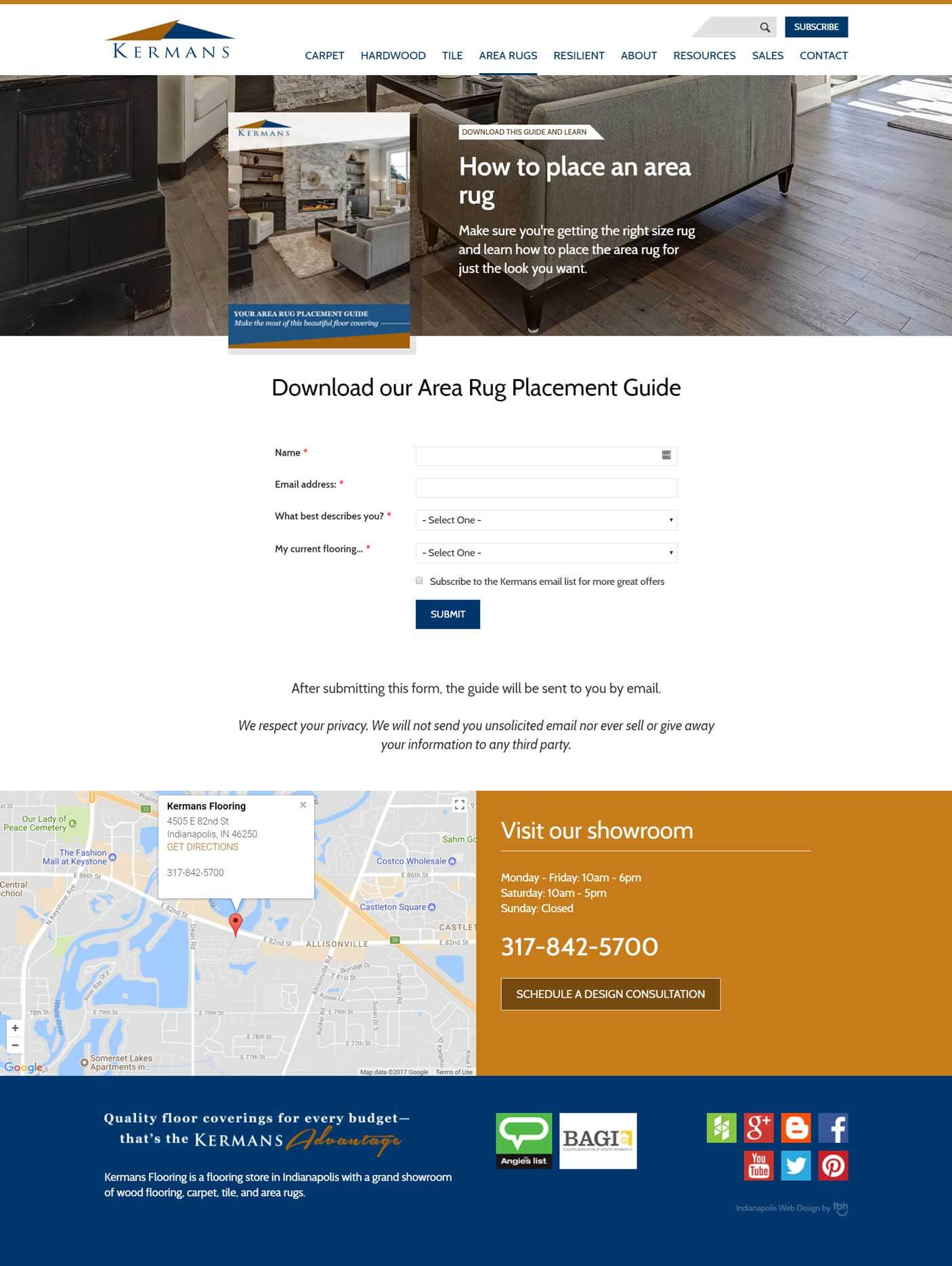 Area Rug Placement Guide landing page