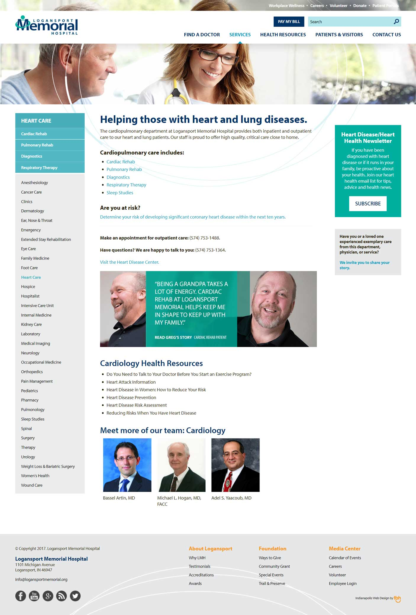 Heart Care Service Page