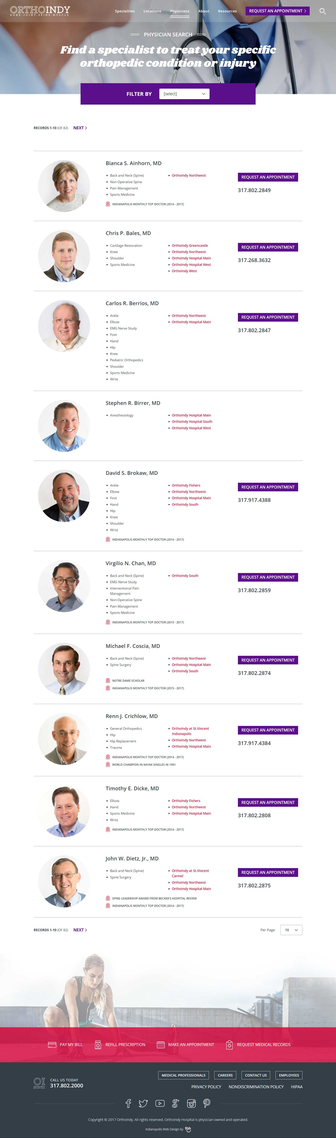 Physicians Directory Page