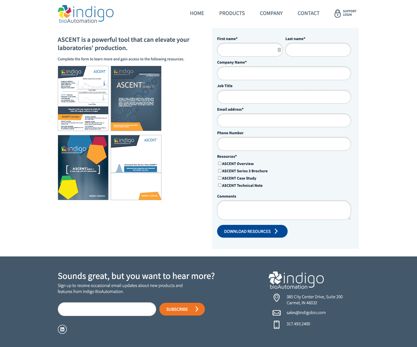 Offer Download landing page