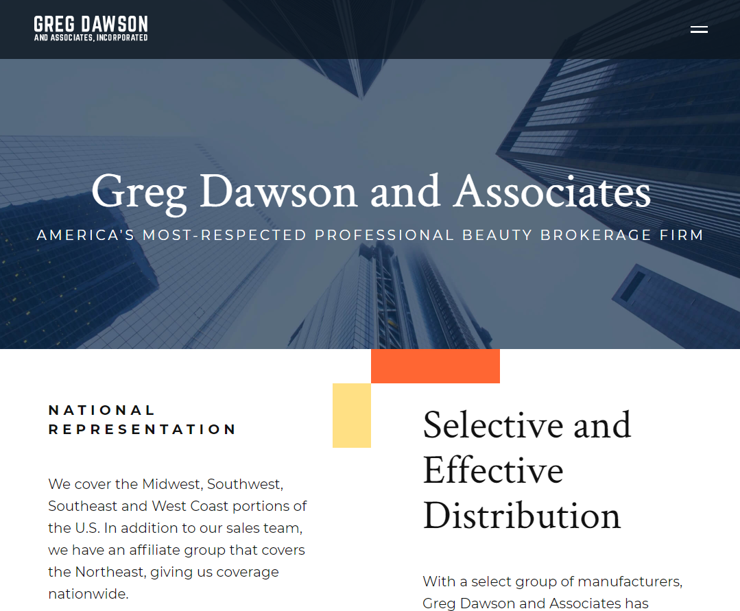 Greg Dawson Website Design