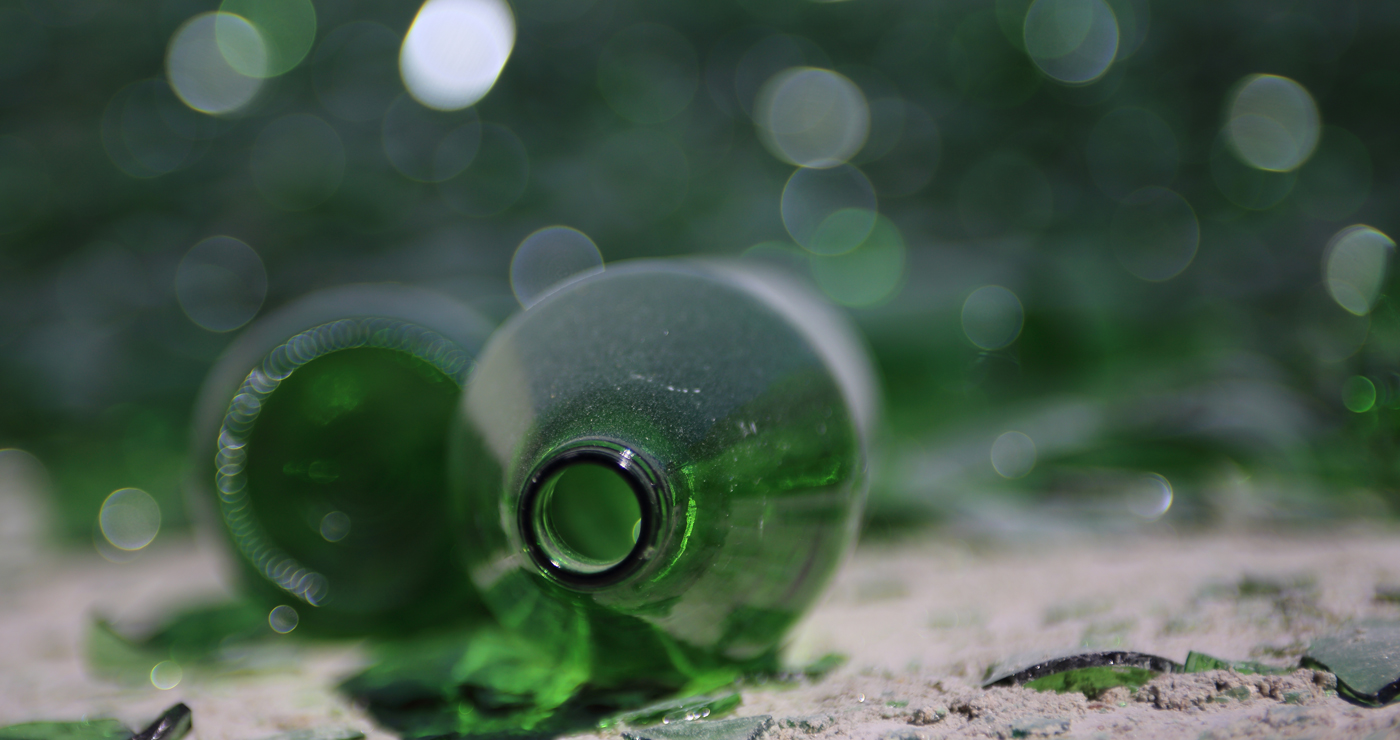 Custom photo of green bottle for recyling